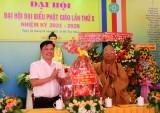Phó Bí thư Thường trực Tỉnh ủy thăm, chúc mừng thành công Đại hội đại biểu Phật giáo huyện Châu Thành