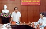 Bí thư Tỉnh ủy - Nguyễn Văn Được làm việc tại huyện Đức Huệ