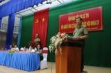 Ứng cử viên đại biểu Quốc hội tiếp xúc cử tri tại huyện Đức Huệ