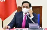 Thủ tướng Chính phủ Phạm Minh Chính điện đàm với Thủ tướng Nhật Bản Suga Yoshihide