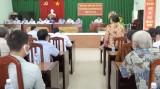 Ứng cử viên đại biểu HĐND tỉnh tiếp xúc cử tri xã Tuyên Thạnh