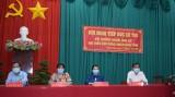 Ứng cử viên đại biểu HĐND tỉnh Long An khóa X tiếp xúc cử tri huyện Thạnh Hóa