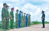 Đoàn công tác Bộ Tư lệnh Bộ đội Biên phòng kiểm tra công tác phòng, chống dịch trên tuyến biên giới Long An