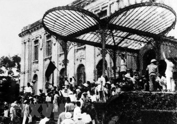Cách mạng Tháng Tám 1945 mở ra một thời đại mới ở Việt Nam, thời đại nhân dân Việt Nam làm chủ đất nước, làm chủ vận mệnh của chính mình. (Ảnh: TTXVN)