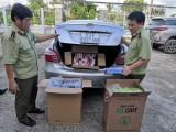 Đội Quản lý thị trường số 5 bắt giữ 6 ô tô vận chuyển 20.000 gói thuốc lá lậu