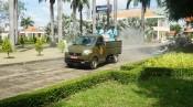Lực lượng phòng hóa Quân khu 7 khử khuẩn phòng, chống dịch Covid-19 tại huyện Bến Lức