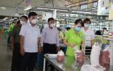 Kiểm tra việc thực hiện các biện pháp phòng, chống dịch Covid-19 tại doanh nghiệp huyện Thủ Thừa