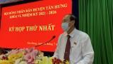 Ông Lê Văn Hùng đắc cử chức vụ Chủ tịch HĐND huyện Tân Hưng
