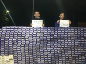 Bắt giữ 2 đối tượng vận chuyển gần 8.000 gói thuốc lá ngoại nhập lậu