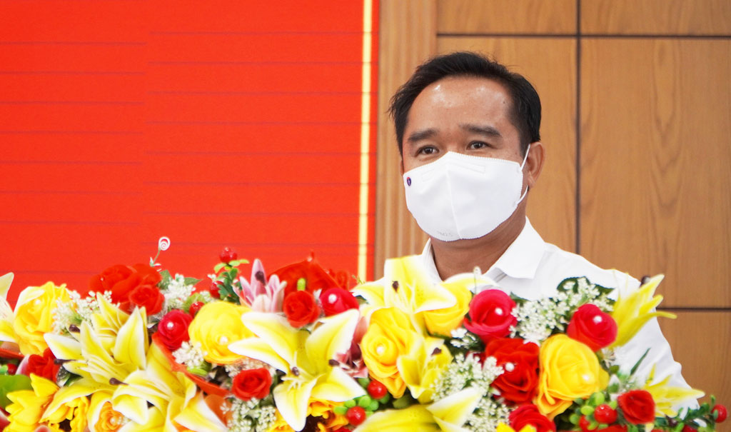 Member of the Party Central Committee, Secretary of the Provincial Party Committee, Chairman of the People's Council of Long An Province - Nguyen Van Duoc (Photo: Hong Anh)