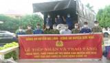 Đức Hòa tiếp nhận 22 tấn lương thực, thực phẩm từ Công an huyện Gio Linh, tỉnh Quảng Trị
