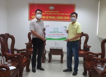 Vinasoy tặng Long An 50.000 hộp sữa đậu nành hỗ trợ lực lượng tuyến đầu chống dịch