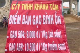 Long An: Công ty TNHH Khánh Tâm bán gạo giá bình ổn giá 9.000 đồng/kg