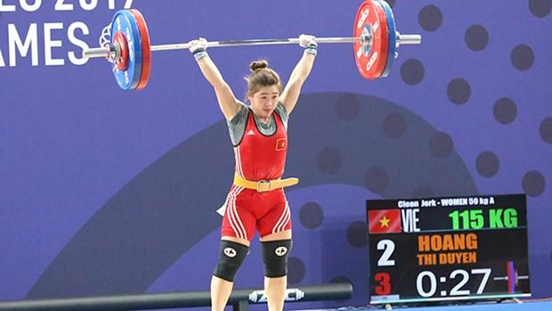 Weightlifter Hoang Thi Duyen (Photo: VNA)