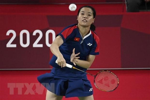 Vietnamese badminton player Nguyen Thuy Linh (Photo: AFP/VNA)