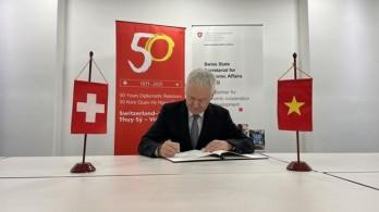 50 năm vun đắp quan hệ truyền thống, hợp tác tốt đẹp Việt Nam-Thụy Sĩ