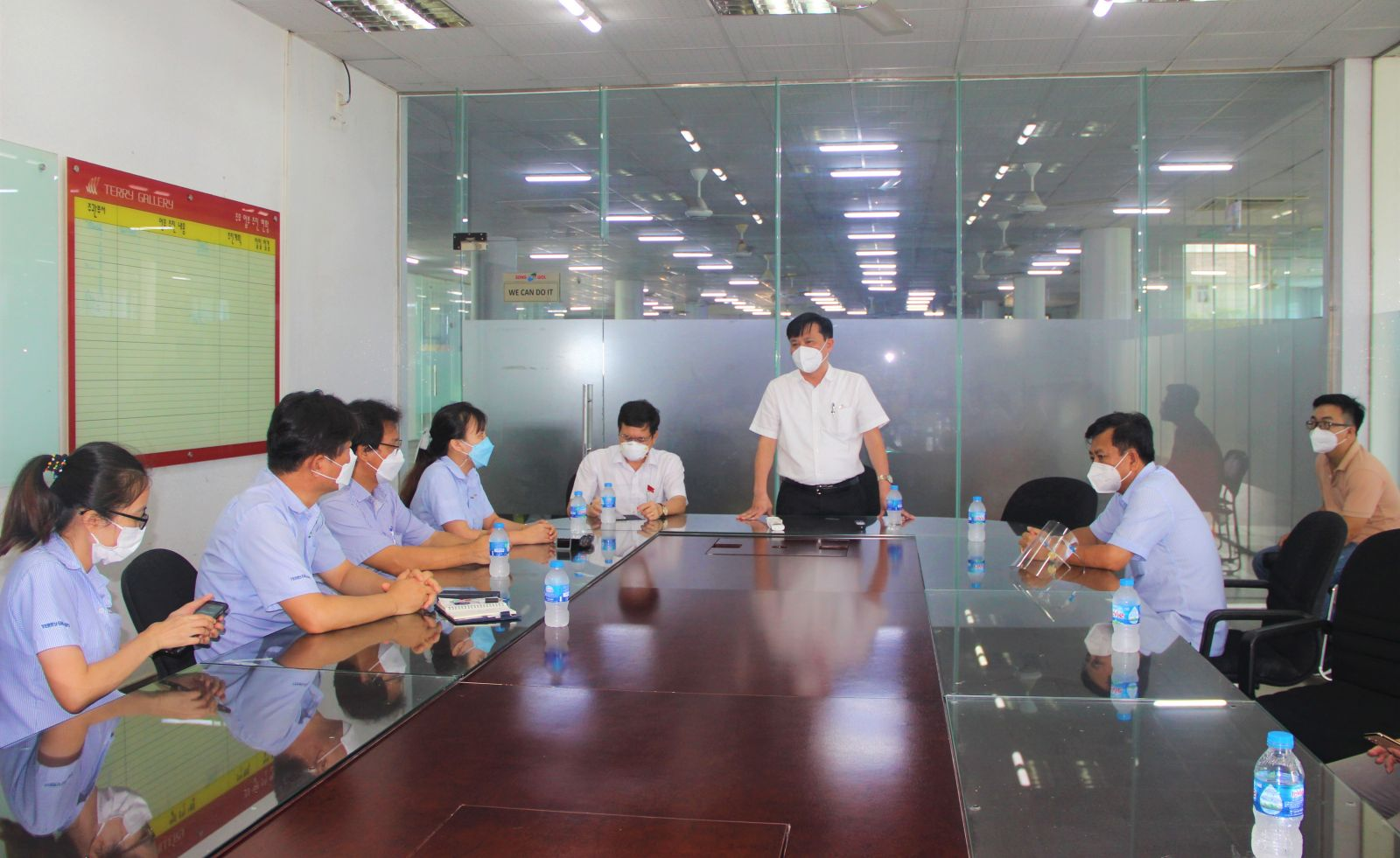Provincial leaders work with SongWol Vina Joint Stock Company on implementing