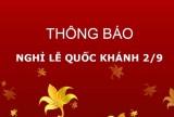 Thông báo nghỉ lễ và treo cờ Tổ quốc nhân dịp kỷ niệm 76 năm Quốc khánh nước Cộng hòa xã hội chủ nghĩa Việt Nam