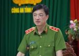 Trung tướng Nguyễn Duy Ngọc, Thứ trưởng Bộ Công an làm việc tại Công an Long An
