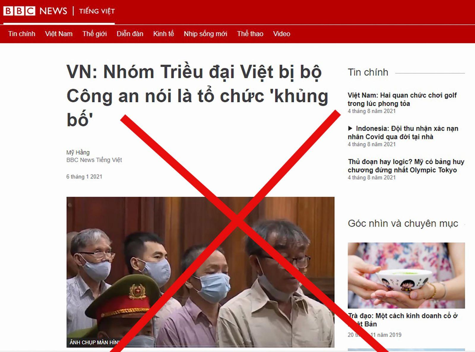 """Phản ứng của truyền thông nước ngoài khi Bộ Công an xếp """"Triều đại Việt"""" vào loại tổ chức khủng bố"""