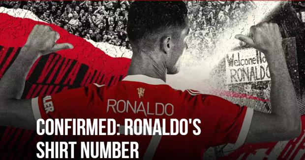 Ronaldo sẽ khoác áo số 7 tại Manchester United. (Nguồn: Manutd)