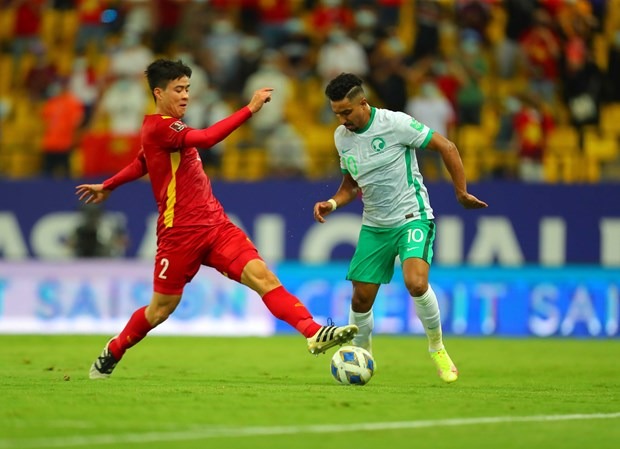 Đội tuyển Việt Nam có quyền tự tin sau trận đấu với Saudi Arabia. (Ảnh: VFF)