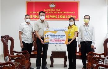 Bưu điện tỉnh Long An hỗ trợ nông sản cho người dân