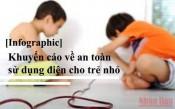 Khuyến cáo về an toàn sử dụng điện cho trẻ nhỏ