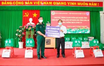 Bộ Tư lệnh Quân khu 7 trao 500 phần quà tại huyện Cần Đước