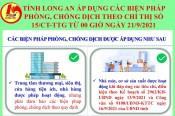 Long An áp dụng các biện pháp phòng, chống dịch theo Chỉ thị số 15/CT-TTg từ 00 giờ ngày 21/9/2021