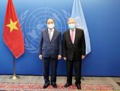 Chủ tịch nước hội kiến Chủ tịch Đại hội đồng và Tổng Thư ký LHQ