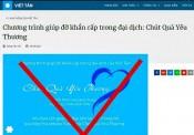 Việt Tân - 'Chút quà yêu thương' hay thủ đoạn lôi kéo, mua chuộc?