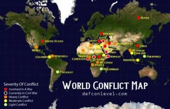 Các cuộc xung đột đang diễn ra ở đâu trong thế giới đương đại?