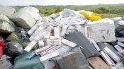 Khen thưởng Công an thị xã Kiến Tường bắt 2 vụ tàng trữ, vận chuyển gần 90.000 gói thuốc lá nhập lậu