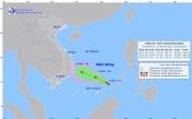 Xuất hiện vùng áp thấp trên Biển Đông cách đảo Song Tử Tây khoảng 270km